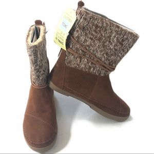 NWT TOM'S Winter boot - Sweater/Moccasin/Leather